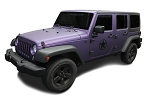 Jeep Army Stars Door and Hood Decals Vinyl Graphics fits Jeep Wrangler 2007-2020