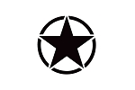 Jeep Army Stars Door and Hood Decals Vinyl Graphics fits Jeep Cherokee, Wrangler, Gladiator, Compass, Patriot, Renegade (All Model Years)