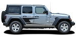 2007-2021 Jeep Wrangler JL Unlimited Side Door Decals ADVANCE Vinyl Graphic Door Stripes Kit