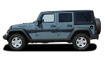 2007-2017 Jeep Wrangler TREK Side Door Panel Vinyl Decal Graphic Stripes Kits