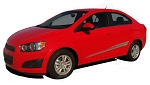 2012-2016 Chevy Sonic Stripes BOOM Hood Decals and Sides Vinyl Graphics Kit