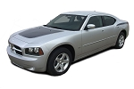 2006-2010 Dodge Charger Hood Decals and Side Stripes CHARGIN 2 Vinyl Graphics Kit