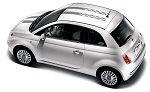 2007-2018 Fiat 500 Decals CHECKERED RALLY Hood and Roof Racing Stripes Vinyl Graphic Kit