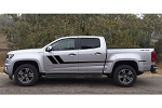 TRACK XL Chevy Colorado Mid Body Line Door Rally Accent Vinyl Stripes Decal Graphics Kit