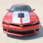 2014 2015 Chevy Camaro Racing Stripes S-SPORT OEM Factory Style SS Rally Hood Vinyl Graphics for SS Models Only