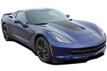 2014-2019 Chevy Corvette C7 HOOD BLACKOUT Decal Center Hood Stripe Vinyl Graphics Kit