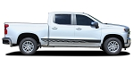 2019 2020 2021 Chevy Silverado Door Stripes ROCKER TWO Side Body Decals Lower Rocker Panel 3M Vinyl Graphics Kit
