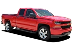 2014-2017 2018 Chevy Silverado Stripes ACCELERATOR Decals Truck Vinyl Graphic Upper Body Accent Side Door Special Edition Rally Kit