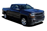 2016 2017 2018 Chevy Silverado Hood Decals LATERAL SPIKES Stripes Double Hood Spear Accent Vinyl Graphics Kit