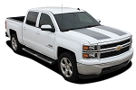 2014-2015 Chevy Silverado Racing Stripes 1500 RALLY Edition Hood Decals Truck Vinyl Graphics Kit