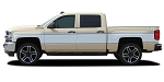 2014-2018 Chevy Silverado RETRO CHEYENNE Truck Stripes Mid-Body Accent Decals Side Door Vinyl Graphics Kit