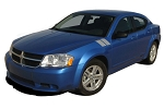 2008-2014 Dodge Avenger Hood Stripes HASH MARKS Hood and Fender Vinyl Stripes Kit