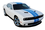 2015-2020 Dodge Challenger Racing Stripes RALLY Hood Decals OEM Style 10 inch Vinyl Graphics Kit