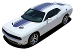 2015-2020 Dodge Challenger Hood Stripes SHAKER Decals Roof Trunk Rally Vinyl Graphics Mopar OEM Style Kit