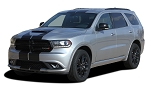 2014-2019 Dodge Durango Racing Stripes RALLY Decals Full Bumper to Bumper Vinyl Graphic Decal Stripe Kit