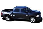 2009-2018 Dodge Ram RAGE Rear Bed Truck Power Wagon Vinyl Graphic Stripe Kit