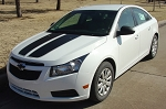 2008-2015 Chevy Cruze Hood Stripes CRUZIN RALLY Racing Stripes Hood and Trunk Vinyl Graphics Kit
