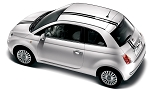 2007-2018 Fiat 500 EURO RALLY Hood, Roof, Trunk Racing Stripes Vinyl Graphic Kit