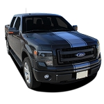 2009-2014 Ford F-150 Hood Stripes CENTER STRIPE Factory Style Decals Vinyl Graphic Stripes Kit