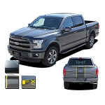 2015 2016 2017 2018 Ford F-150 BORDERLINE Stripes Center Rally Stripe w/ Outline Vinyl Decal Graphic Kit