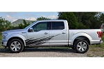 RIPPED Lower Body Door Rocker Panel Splash Rip Style Vinyl Graphics Decal Stripe Kit for Ford F-150 F-250