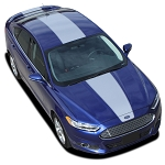 2013-2020 Ford Fusion Graphics OVERVIEW Complete Center Hood Stripes Roof Trunk Spoiler Vinyl Decals Kit