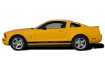 2005-2009 Ford Mustang WILDSTANG ROCKER 2 Factory OEM Style Lower Rocker Stripes Vinyl Decal Graphics