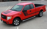 2009-2014 and 2015-2019 Ford F-150 Decals QUAKE HOOD / SIDES Stripes Factory Tremor FX Style Hockey Stick Side Vinyl Graphic Kits