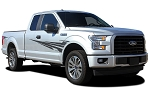 2015 2016 2017 2018 Ford F-150 APOLLO ONE COLOR Decal Fender to Side Door Panel Vinyl Graphics Stripes Kit