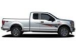 2015-2020 Ford F-150 Door Vinyl Graphic APOLLO TWO COLOR Decals Fender to Side Panel Vinyl Graphics Kit