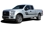 2015-2020 Ford F-150 ELIMINATOR Stripes Side Door Panel Decals Hockey Stick Vinyl Graphics Kit