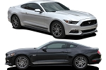 2015-2017 Ford Mustang DIGITAL FADED COMBO GT/CS Style Rocker and Hood Factory OEM Style Lower Rocker Stripes Vinyl Decal Graphics