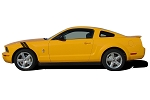 2005-2009 Ford Mustang Hood to Fender Decals DOUBLE BAR Hash Mark Side Stripes Vinyl Decal Graphics Kit