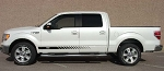 Ford F-150 ROCKER STROBES Lower Rocker Stripes Vinyl Decal Graphics