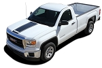 2014-2017 2018 GMC Sierra Stripes MIDWAY Hood Decals Truck Center Racing Vinyl Graphics Kit