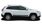 2014-2020 Jeep Cherokee Decals BRAVE Vinyl Decal Graphic Stripes Kit