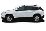 2014-2019 Jeep Cherokee Stripe WARRIOR Vinyl Decal Graphic Stripes