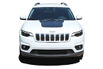 2018-2019 Jeep Cherokee Trailhawk Hood Decal T-HAWK Vinyl Graphic Stripes