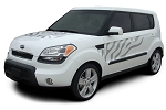 2010-2013 Kia Soul SOUL CAT Factory Style Hood Side and Rear Vinyl Graphics Kit
