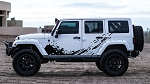 PREDATOR Jeep Wrangler Mudslinger Side Door Off Road Vinyl Decal Graphic Stripes