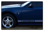 1999-2004 Ford Mustang RETRO ROCKER Factory OEM Style Lower Rocker Stripes Vinyl Decal Graphics