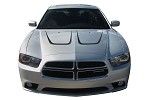 2011-2014 Dodge Charger Hood Stripes SCALLOP HOOD Decals Mopar Style Vinyl Graphics Kit