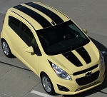 2013-2016 Chevy Spark Racing Stripes SPARK RALLY Hood Decals Roof Rear Hatch Door Vinyl Graphics Kit