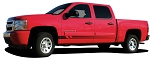 Chevy Silverado Rocker Stripes VIKING Lower Door Decal Fade Style Universal Fit Vinyl Graphic Kit