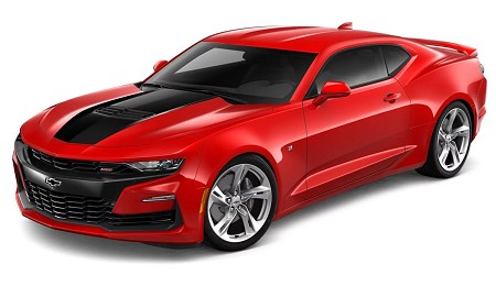 2020 2019 Chevy Camaro SS with STINGER Style Hood Decal SHOCK Hood Stripes Vinyl Graphics Kit