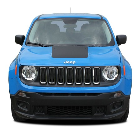 2014-2021 Jeep Renegade HOOD Decal Trailhawk Style Vinyl Decal Graphic Stripes