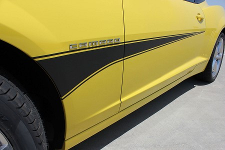 2010-2013 2014 2015 Chevy Camaro SWITCHBLADE Hood Spear Decals and Side Door Stripes Vinyl Decal Graphics for SS, RS, LT, LS Models
