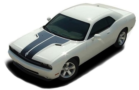 2008-2014 Dodge Challenger HOOD Decals Mopar Stripes Style Vinyl Graphics Kit
