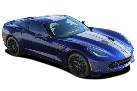 2014-2019 Chevy Corvette C7 Racing Stripes RALLY STRIPE Bumper to Bumper Vinyl Graphics Decals Kit