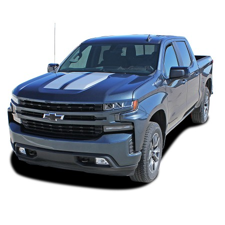 2019 2020 2021 Chevy Silverado Racing Stripes Hood Decal BOW RALLY Trail Boss 3M Vinyl Graphics Kit